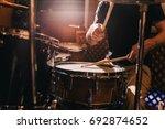 professional drum set closeup.... | Shutterstock . vector #692874652