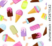different ice creams... | Shutterstock . vector #692875162