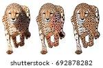 running cheetah  isolated on... | Shutterstock . vector #692878282