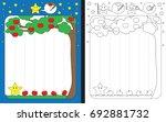 preschool worksheet for... | Shutterstock .eps vector #692881732