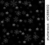 snowflake simple seamless... | Shutterstock .eps vector #692888032