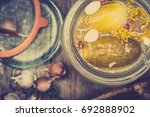 salted cucumber   pickles in... | Shutterstock . vector #692888902