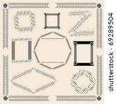 calligraphic frames | Shutterstock .eps vector #69289504