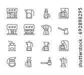 vector icons of coffeemakers in ... | Shutterstock .eps vector #692898295