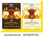 oktoberfest vector poster... | Shutterstock .eps vector #692899726
