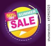 summer sale banner. sale 50off. ... | Shutterstock .eps vector #692902525