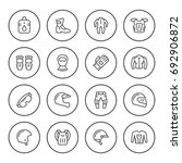 set round line icons of... | Shutterstock .eps vector #692906872