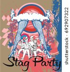 stag party. vector illustratlon | Shutterstock .eps vector #692907322