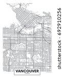 detailed vector poster city map ... | Shutterstock .eps vector #692910256
