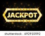 jackpot gold casino lotto label ... | Shutterstock .eps vector #692910592