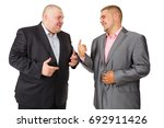 two fat businessman. two... | Shutterstock . vector #692911426