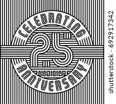 25 years anniversary logo.... | Shutterstock .eps vector #692917342