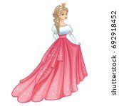 beautiful princess. isolated on ... | Shutterstock .eps vector #692918452