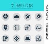 vector illustration set of... | Shutterstock .eps vector #692921542