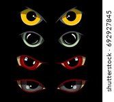 set of creepy eyes  vectro... | Shutterstock .eps vector #692927845