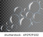 flat water bubbles with... | Shutterstock .eps vector #692929102
