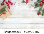 christmas background with... | Shutterstock . vector #692930482