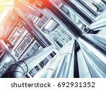 industrial zone  steel... | Shutterstock . vector #692931352