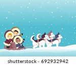 colorful illustration featuring ... | Shutterstock .eps vector #692932942