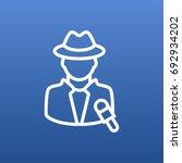 isolated journalist outline... | Shutterstock .eps vector #692934202