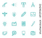 set of 16 constructive outline...   Shutterstock .eps vector #692936542