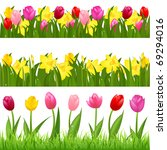 3 Flower Borders From Tulips...