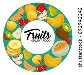fresh organic fruit concept | Shutterstock .eps vector #692942242