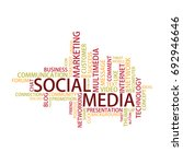 social media tag cloud  vector | Shutterstock .eps vector #692946646