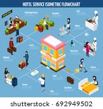 colored hotel service isometric ... | Shutterstock .eps vector #692949502