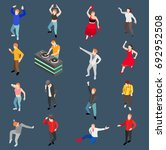 dance isometric people... | Shutterstock .eps vector #692952508