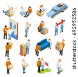 moving people isometric... | Shutterstock .eps vector #692952586
