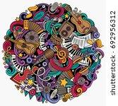 cartoon vector doodles music... | Shutterstock .eps vector #692956312