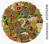 cartoon vector doodles beer... | Shutterstock .eps vector #692956348