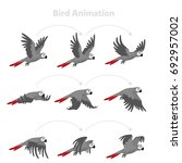 animation the bird is flying.... | Shutterstock .eps vector #692957002