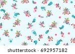 seamless folk pattern in small... | Shutterstock . vector #692957182
