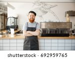 coffee business owner concept   ... | Shutterstock . vector #692959765