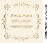 vector decorative element for... | Shutterstock .eps vector #692960338