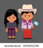 guatemalans in national dress... | Shutterstock .eps vector #692962198