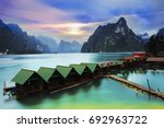 rajjaprabha dam  chiao lan dam  ... | Shutterstock . vector #692963722