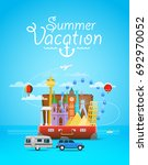 summer vacation. vacation... | Shutterstock .eps vector #692970052