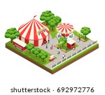 amusement park isometric... | Shutterstock .eps vector #692972776