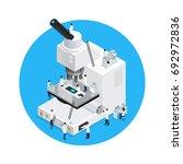 microscope conceptual round... | Shutterstock .eps vector #692972836