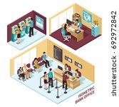 isometric bank office... | Shutterstock .eps vector #692972842