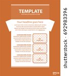 newsletter corporate vector... | Shutterstock .eps vector #692983396
