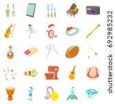 hobby icons set. cartoon set of ...   Shutterstock .eps vector #692985232