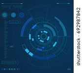 futuristic user interface  hud... | Shutterstock .eps vector #692987842