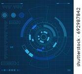 futuristic user interface  hud...   Shutterstock .eps vector #692987842