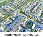aerial view of residential... | Shutterstock . vector #692987866