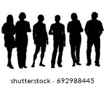 big crowds people on white... | Shutterstock .eps vector #692988445