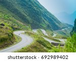 lo xo pass   the famous road...   Shutterstock . vector #692989402